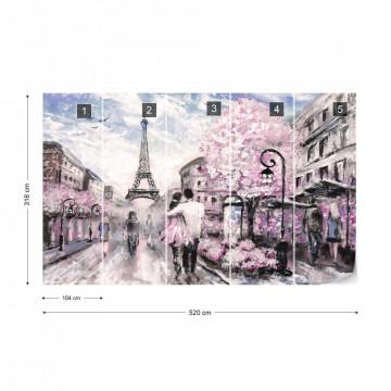 Paris Street Art Painting Photo Wallpaper Wall Mural