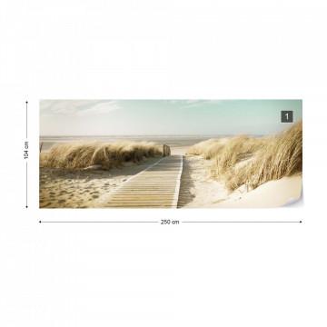 Pastel Colours Beach Sand Dune Path Photo Wallpaper Wall Mural