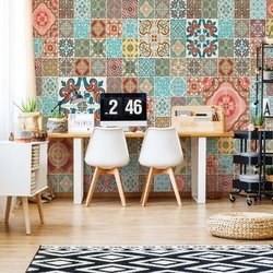 Pattern Vintage Tiles Photo Wallpaper Wall Mural