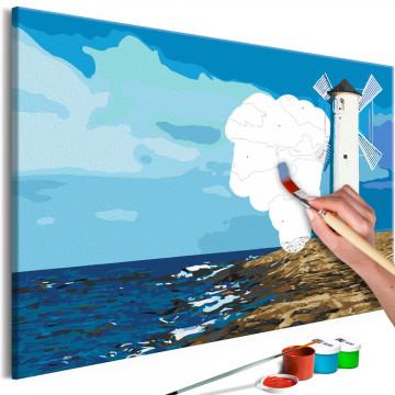 Pictatul pentru recreere - Lighthouse with Windmill