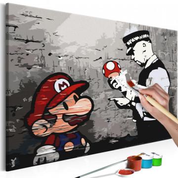 Pictatul pentru recreere - Mario (Banksy)