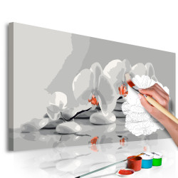 Pictatul pentru recreere - Orchid (white & grey)