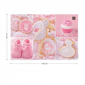 Pink Baby Things Photo Wallpaper Wall Mural