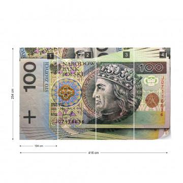 Polish Banknote Photo Wallpaper Wall Mural