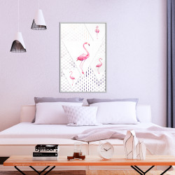 Poster - Flamingos and Triangles