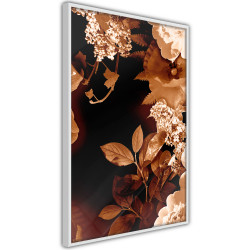 Poster - Flower Decoration in Sepia