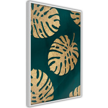 Poster - Gilded Monstera Leaves