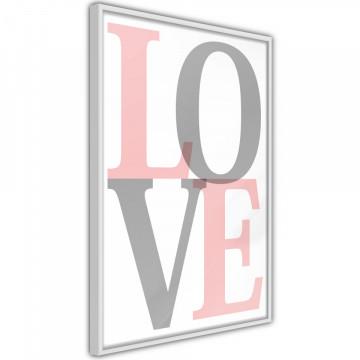 Poster - Grey-Pink Love