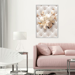 Poster - Lilies on Leather Upholstery