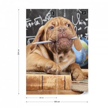 Puppy Professor Photo Wallpaper Wall Mural