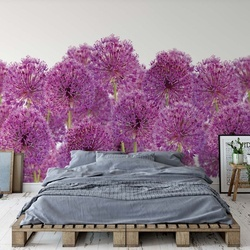 Purple Flowers Photo Wallpaper Wall Mural