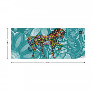 Pyschedelic Horse Photo Wallpaper Wall Mural