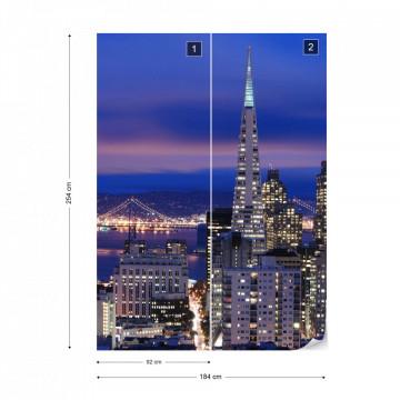 San Francisco City Skyline Photo Wallpaper Wall Mural