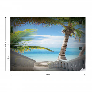 Steps To The Beach Photo Wallpaper Wall Mural