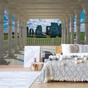 Stonehenge 3D View Through Columns Photo Wallpaper Wall Mural
