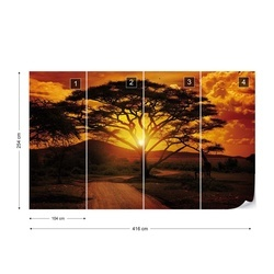 Sunset Landscape Photo Wallpaper Wall Mural