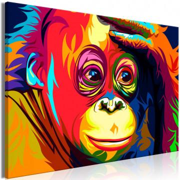 Tablou - Colourful Orangutan (1 Part) Wide