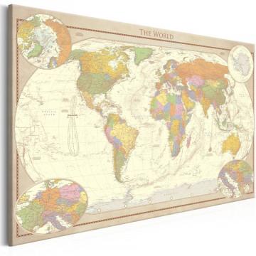 Tablou - Cream World Map