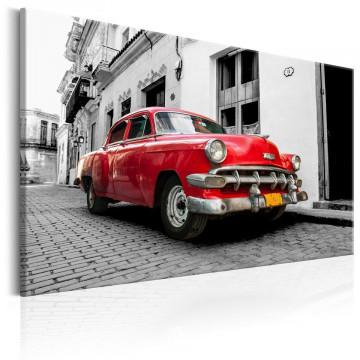 Tablou - Cuban Classic Car (Red)