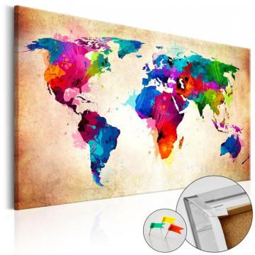 Tablou din plută - Colourful Ranger  [Cork Map]