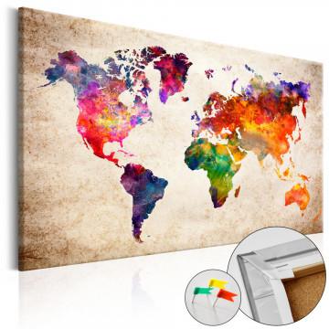 Tablou din plută - Colourful Universe [Cork Map]