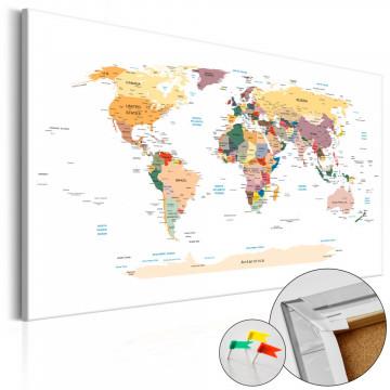Tablou din plută - World Map [Cork Map]