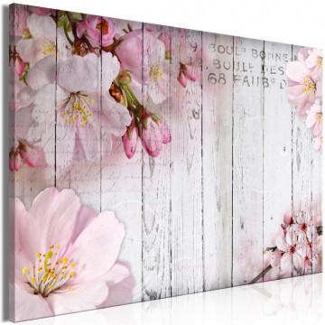 Tablou - Flowers on Boards (1 Part) Wide