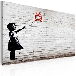Tablou - Girl with TV (Banksy)