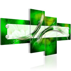 Tablou - green  abstract pattern