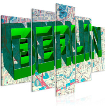 Tablou - Green Berlin (5 Parts) Wide