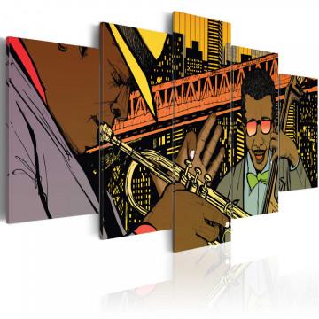 Tablou - Jazz in comic