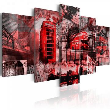 Tablou - London collage - 5 pieces