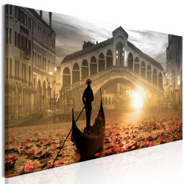 Tablou - Magic Venice (1 Part) Narrow Orange