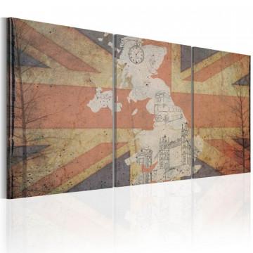 Tablou - Map of Great Britain (Vintage)
