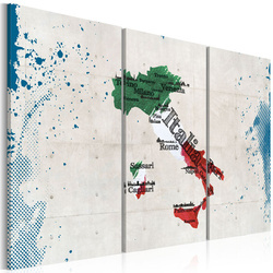 Tablou - Map of Italy - triptych