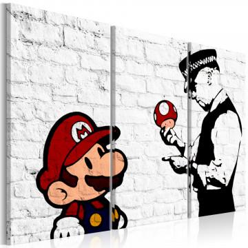Tablou - Mario Bros (Banksy)