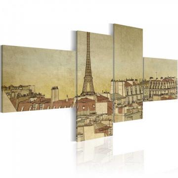 Tablou - Parisian chic in retro style