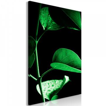 Tablou - Plant in Black (1 Part) Vertical