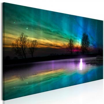 Tablou - Rainbow Aurora (1 Part) Narrow