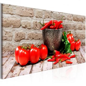 Tablou - Red Vegetables (1 Part) Brick Narrow