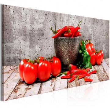 Tablou - Red Vegetables (1 Part) Concrete Narrow