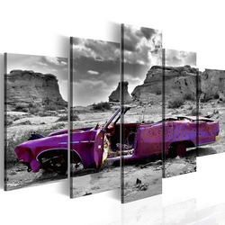 Tablou - Retro car at Colorado Desert - 5 pieces