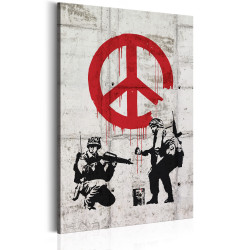 Tablou - Soldiers Painting Peace by Banksy