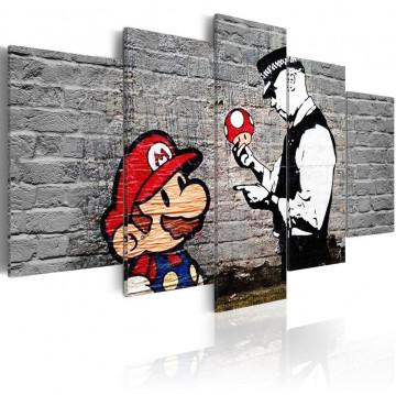 Tablou - Super Mario Mushroom Cop (Banksy)