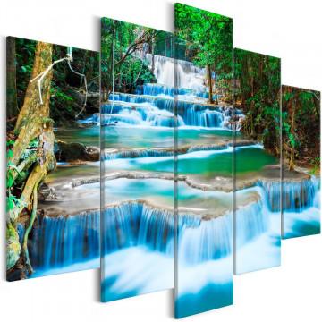 Tablou - Waterfall in Kanchanaburi (5 Parts) Wide