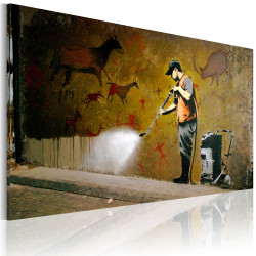 Tablou - Whitewashing Lascaux (Banksy)