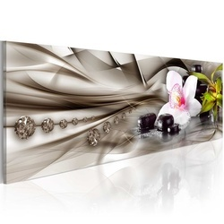 Tablou - Zen composition: orchid, bamboo and stones