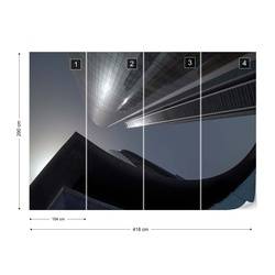 The Rhythm Of Glass And Concrete Photo Wallpaper Mural