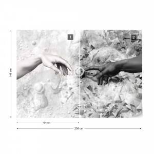The Touch Black And White Photo Wallpaper Wall Mural