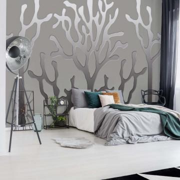Tree Silhouette Modern Design Photo Wallpaper Wall Mural